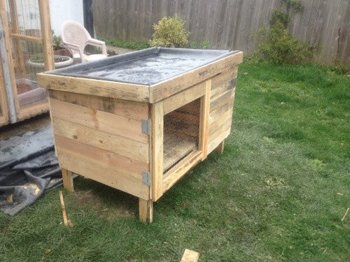 Woodworking project rabbit hutch covers